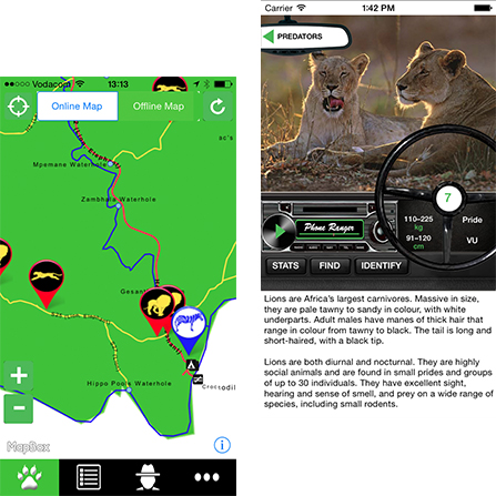 Wildlife apps for travellers to Africa.
