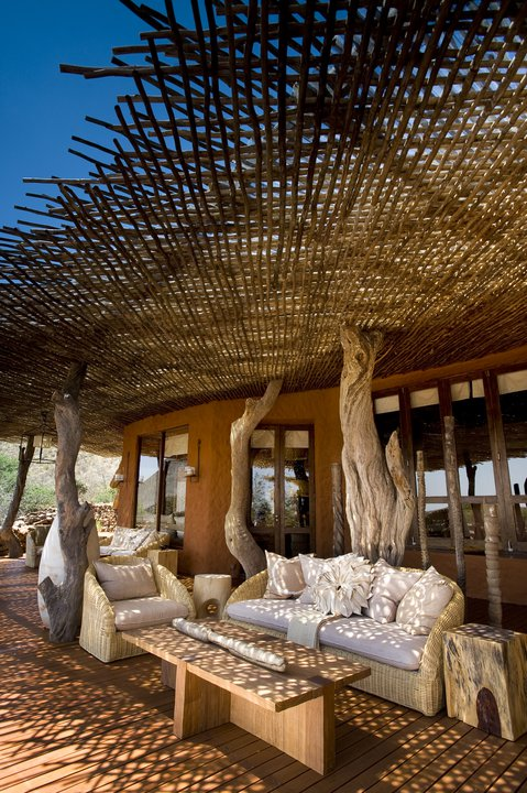Luxurious game lodges in South Africa.